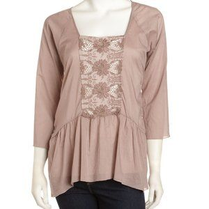 Johnny Was NWT Painted Desert Cotton Embrd Top Sm